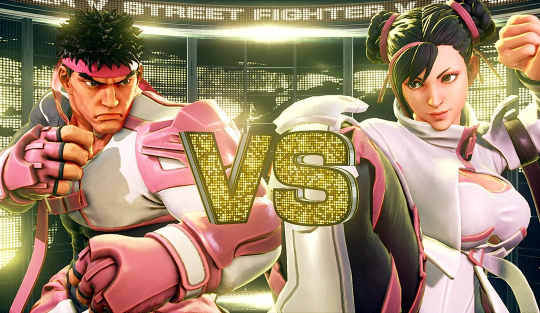 Capcom's charity skins for Street Fighter V characters Chun-Li and Ryu