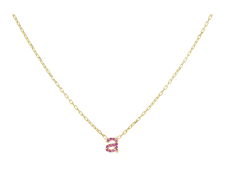 Adina's Jewels x BCRF Shop Pink Pave Initial Necklace