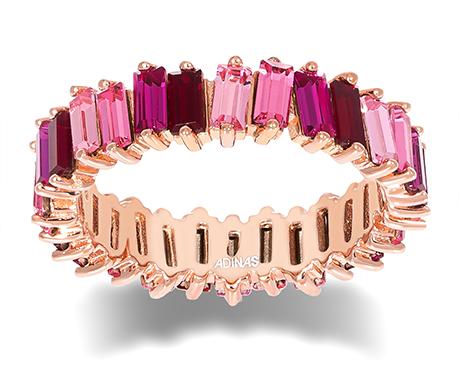 Adina's Jewels x BCRF Shop Pink Ombre Eternity Band