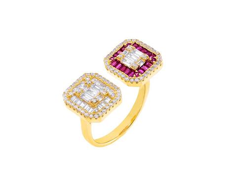 Adina's Jewels x BCRF Shop Pink Baguette Ring