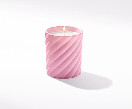 David Yurman x BCRF Shop Pink Cable Classic Rose Candle