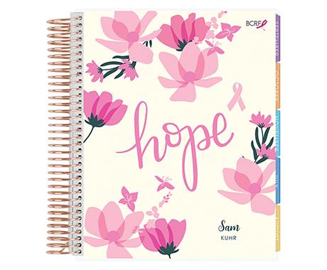 EC x BCRF Shop Pink Lifeplanner Hope Blooms