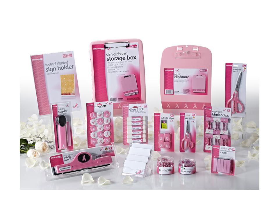 Officemate x BCRF Shop Pink