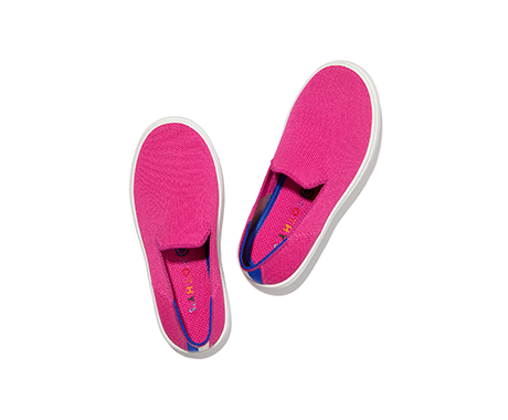Rothy's x BCRF Shop Pink Kids Sneaker Bubblegum