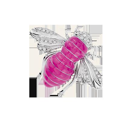 Sabbadini x BCRF Pink Bee Brooch