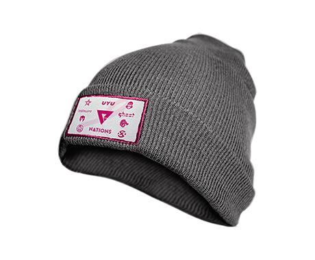 We Are Nations x BCRF Shop Pink 2020 Grey Beanie