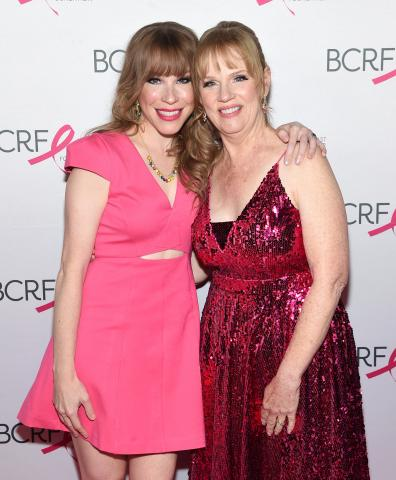 Emma Myles and her mom at the BCRF Hot Pink Party