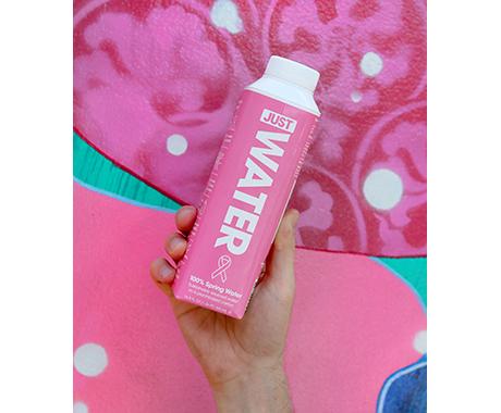 JUST Water x BCRF Shop Pink JUST PINK Carton