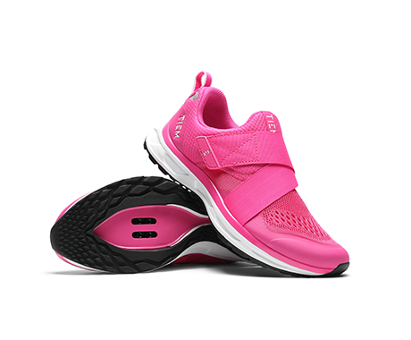 TIEM x BCRF Vivid Pink Slipstream Cycling Shoe