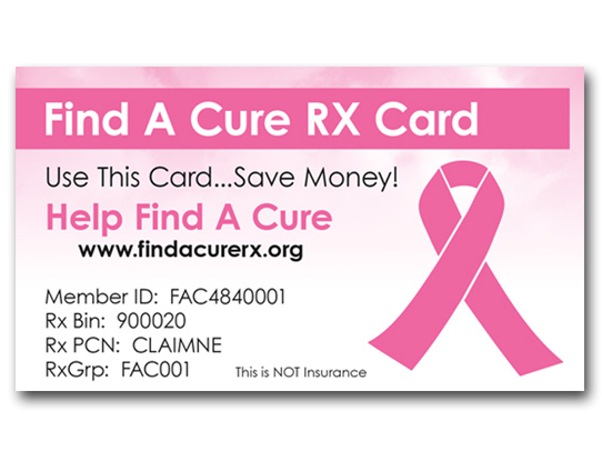Find A Cure Rx Card