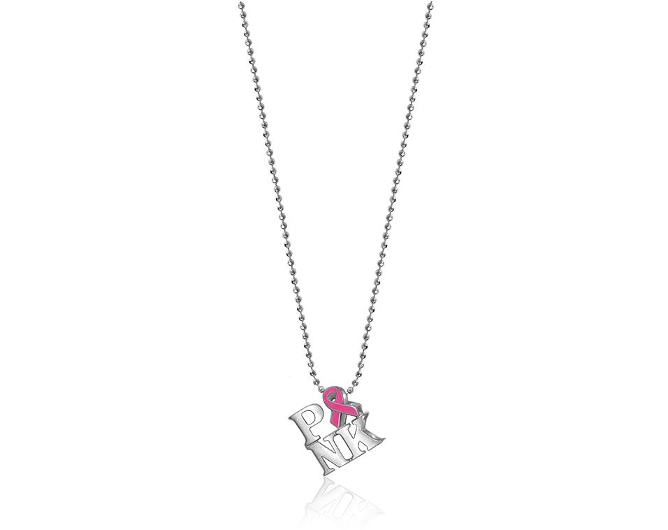 Alex Woo Activist PINK Pendant in Sterling Silver with Pink Enamel.jpg